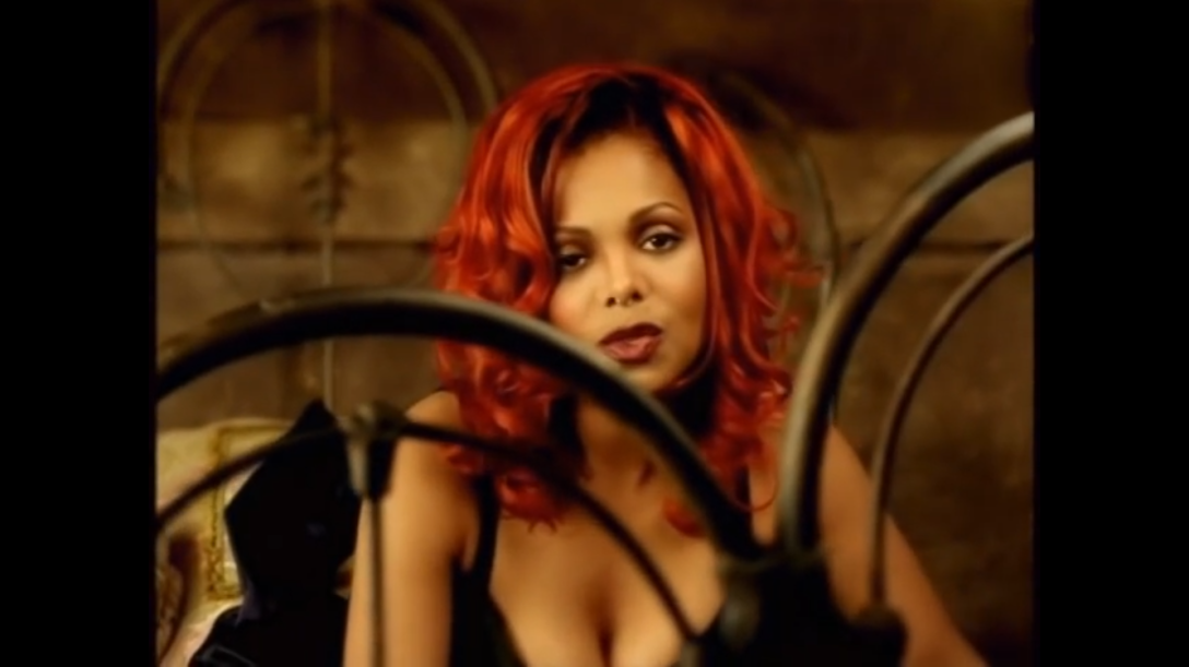 "still shot from Janet Jackson's ""Together Again (Deeper Remix)"" video"
